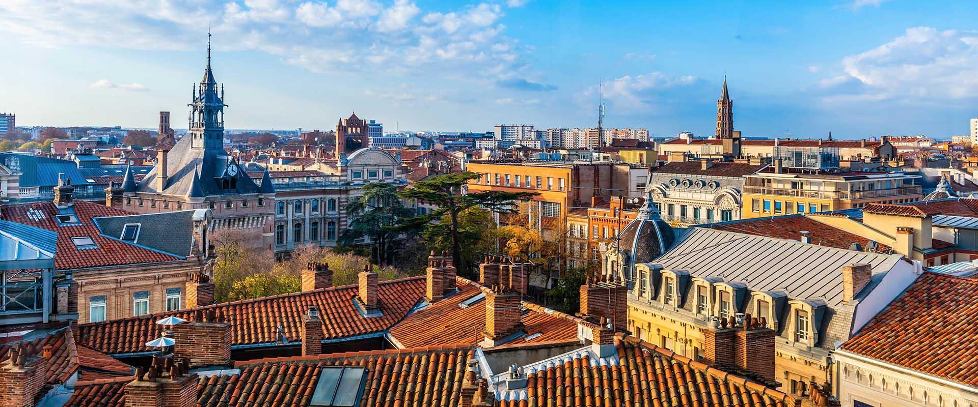 Vue des toits de Toulouse, la Ville Rose