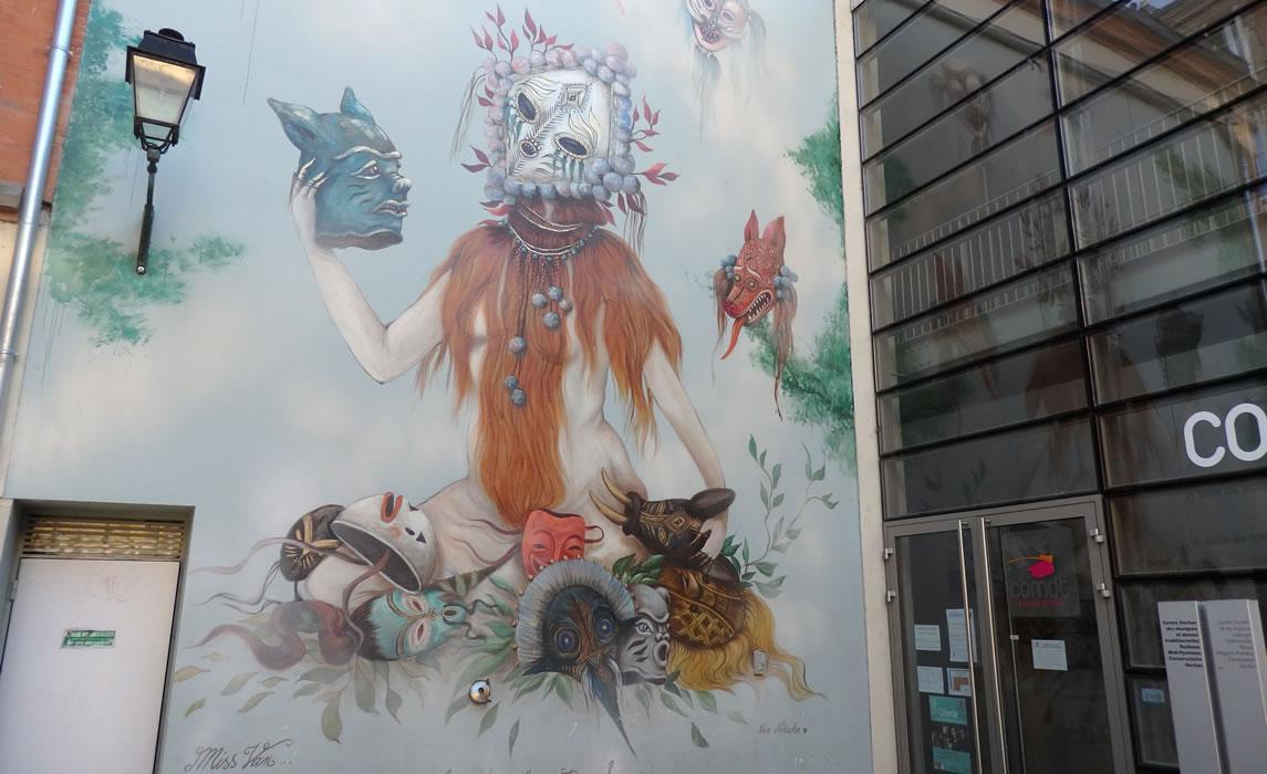Fresque de Miss Van à Toulouse