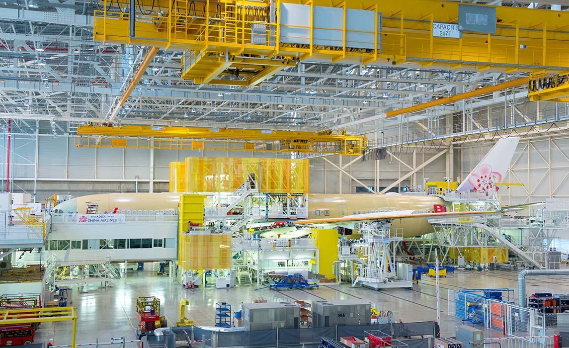Visiter Toulouse, usines d'assemblage des Airbus