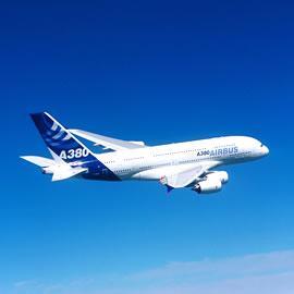 Airbus A380 en vol