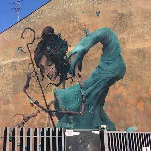 Street art à Toulouse - oeuvre de Maye Mondé